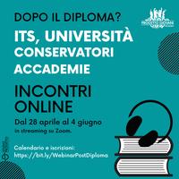 Dopo il diploma? Incontri online